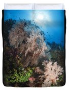 Sea Fan On Soft Coral In Raja Ampat Duvet Cover