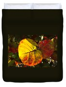 Sea Grape Leaves Duvet Cover