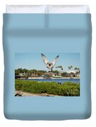 Sea Gull With Full Flaps Duvet Cover