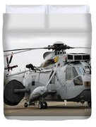 Sea King Helicopter Of The Royal Navy Duvet Cover