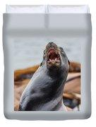 Sea Lion Agony Duvet Cover