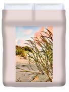 Sea Oats And Dunes Duvet Cover by Kristin Elmquist
