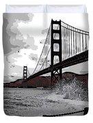 Sea Spray Under The Golden Gate Bridge Duvet Cover