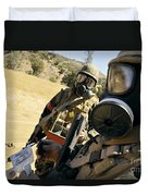 Seabees Conduct Decontamination Wash Duvet Cover