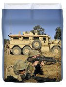 Seabees Defend Their Camp Duvet Cover