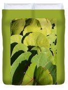 Seagrape Leaf Layer Duvet Cover