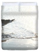 Seagulls In A Shimmer Duvet Cover