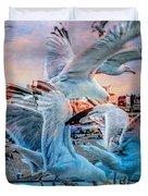 Seagulls On Brighton Pier Duvet Cover