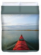Seakayak Bow Parts The Rippled Water Duvet Cover