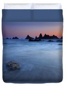 Seal Rock Dusk Duvet Cover