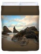 Seal Rock Oregon Duvet Cover