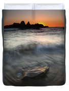 Seal Rock Sunset Duvet Cover