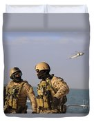 Seals Aboard A Rigid-hull Inflatable Duvet Cover by Stocktrek Images