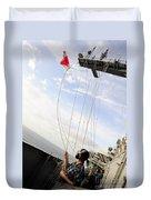Seaman Raises The Foxtrot Flag Duvet Cover