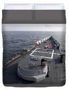 Seamen On The Forecastle Duvet Cover