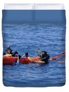 Search And Rescue Swimmers Retrieve Duvet Cover