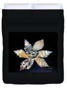 Seashell Floral Duvet Cover