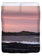 Seashore At Sunset, Northumberland Duvet Cover