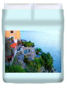 Seaside Villa Amalfi Duvet Cover