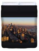 Seattle Blue Hour Duvet Cover