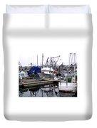 Seattle Fishermans Terminal Duvet Cover