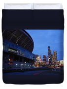 Seattle Sky At Dusk Duvet Cover