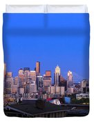 Seattle Skyline 3 Duvet Cover