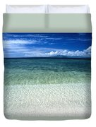 Secluded White Sands Beach Duvet Cover