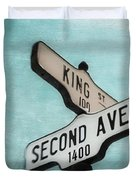 second Avenue 1400 Duvet Cover by Priska Wettstein