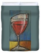 Second Glass Of Red Duvet Cover by Tim Nyberg