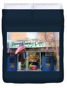 Secret Garden Cafe Duvet Cover