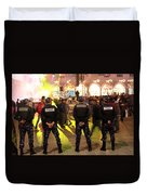 Security And Lights Duvet Cover
