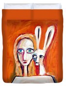 Seeking Duvet Cover by Leanne Wilkes