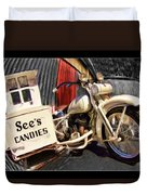 See's Motocycle Duvet Cover