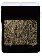 Sem Of Mycelium On Mushrooms Duvet Cover