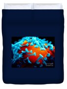 Sem Of Nerve Synapses In Aplysia Duvet Cover