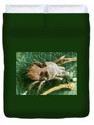 Sem Of Two-spotted Spider Mite Duvet Cover