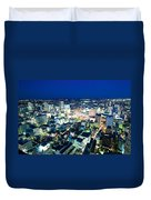 Sendai Train Station By Night Duvet Cover
