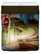 Sensing The Spheres Duvet Cover by Linda Sannuti