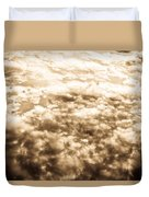 Sepia Clouds  Duvet Cover