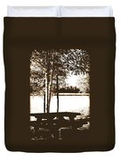 Sepia Picnic Table Ll Duvet Cover