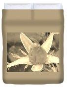 Sepia Rose Bud Duvet Cover