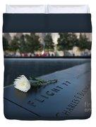September 11 Memorial Flower Duvet Cover