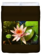 Serene Pink Waterlily  Duvet Cover