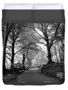 Serene Winding Country Road Duvet Cover