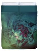 Serpent Head Duvet Cover by Linda Sannuti