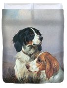 Setters On A Moor Duvet Cover by Colin Graeme