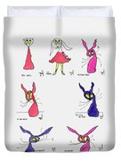 Seven Cartoons Duvet Cover