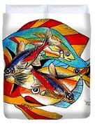 Seven Fish Duvet Cover
