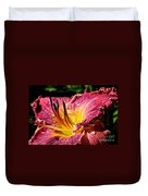 Seven Seals Daylily Duvet Cover